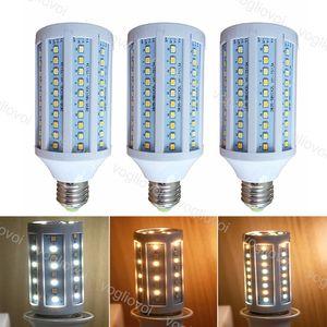 LED Bulbs Corn 80RA 110V 220V 15W 20W 25W Plastic SMD2835 Three Color E27 6500K + 3500K 360 Degree For Table Light Pendant Floor Lights DHL