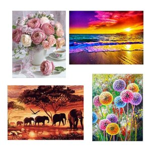 2020 New Full Drill 5D DIY Diamond Painting Flower Paintings 3D Embroidery Cross Stitch Arts Craft Home Wall Decoration Picture