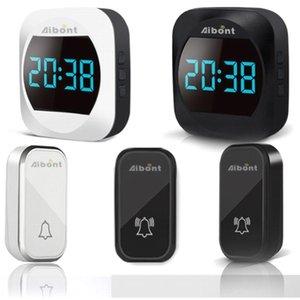 Doorbells Self-Powered Wireless Doorbell With Clock 38 Melodies 4 Volume Level Remote Home Door Bell Rings AC 100V-240V Waterproof