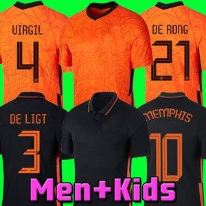2021 soccer jersey DE JONG The football kits shirt VIRGIL 20 21 jerseys STROOTMAN MEMPHIS Men + Kids sets