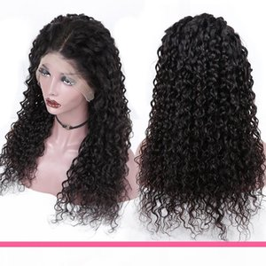Aircabin Water Wave 30 Inch 13x6 Type T HD Lace Wigs Glueless Brazilian Remy Human Hair Natural Color Wig For Women 150% Density