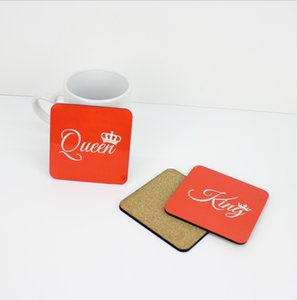 10*10cm Sublimation Coaster Wooden Blank Table Mats MDF Heat Insulation Thermal Transfer Cup Pads for DIY Lover
