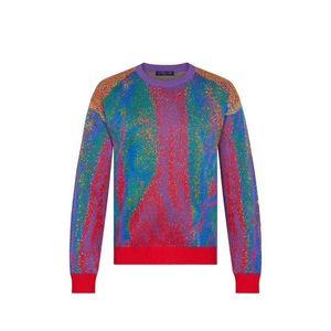 20SS Color Matching Jacquard Crewneck Sweater Sweatshirt Street Men Women Knitting Pullover Hoodies Autumn Winter Warm Sweaters HFYMWY358