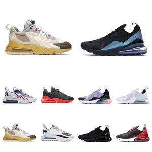 270 Reaksiyon Koşu Ayakkabı Erkek Kadınlar Için Işık Kemik Üçlü Beyaz Siyah Kırmızı Yumruk Çay Berry 270s Erkekler Eğitmenler Açık Hava Sporları Sneakers