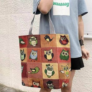 Casual Fashion Large Volume Linen Bags Women's Shopping Bag Artistic Style Tote Bagss Student Shoulder handag