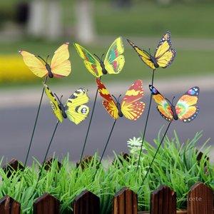garden decoration 7cm simulation butterfly gardening flower arrangement forest decoration butterflys crafts ZC196