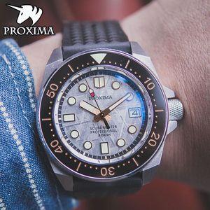 Proxima 2021 Бренд Спортивные Мужские Часы Автоматический Метеоритный Набор Алюминий NH35 Водонепроницаемый Relogio Masculino Наручные часы