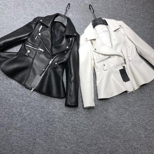 Version Of Its Star Sui He Supermodel Import Sheep Garment Leather Jacket Coat Female Lotus Leaf Women's & Faux