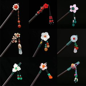 Arrival Vintage Chinese Style Wooden Hairpin Flower Tassel Beads Pendant Hair Sticks Ladies Wedding Accessories Clips & Barrettes