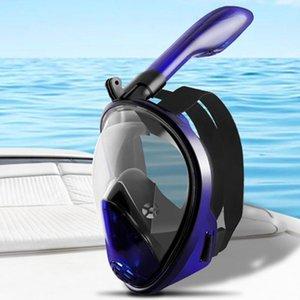 Mascarilla de snorkel para adultos Máscara de natación con máscara de respiración Mascarillas de buceo seco Scuba natación Gafas Equipo
