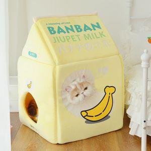 Erdbeermilch Bananen Milchkatze-Bett-Katzenhaus 1178 v2
