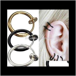 Cuff On Earrings Invisible Earring Bone Spring Ear Clip Nose Navel Ring 1 Pair Spk Fx4V5