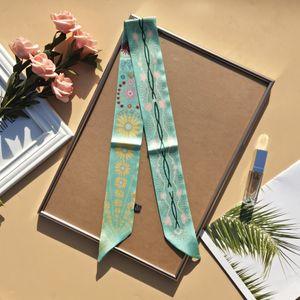 2021 Tasarımcı Kafa Lüks Marka Atkılar kadın Moda Mizaç Eşarp Üst İpek Eşarplar Atkısı 100 * 6 cm