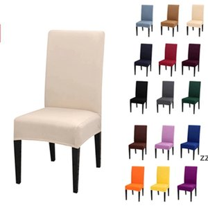 Chair Cover Solid Color Stretch Elastic ChairCovers Seat Case For Dining Wedding Banquet HWE8203