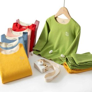 Others Appare Children's underwear Tiktok Children's Thermal Underwear Set, Live, Doughy, Ab, No Bone Heat, Double Face, Long Johns, Autumn Cloth and Trousers.