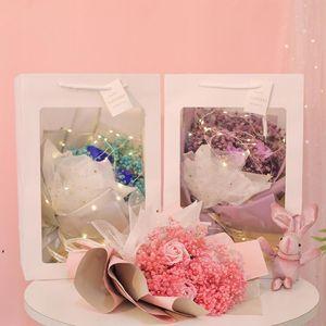 Christmas Valentine Day Gift Dried Artificial Flower Gypsophila Bouquet Creative Eternal Gypsophila Bouquet Soap Flower DWE9893