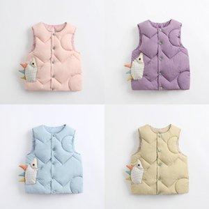 Lawadka Baby Boy Boy Winter Ropa de invierno Dibujos animados Casual Vestido sin mangas para niña invierno chaleco grueso abrigo abrigo Outwear Chaleco de bebé Fo Boy 990 x2