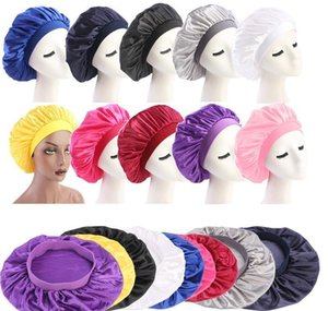 Beanieskull Hats Caps Hats Scarves Gloves Fashion Accessories Drop Delivery 2021 58Cm Adjust Solid Satin Bonnet Long Care Women Night Sleep H
