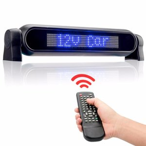 Dc12v Led Car Rear Window Sign Board Scrolling Blue Message Display Banner With Remote Controller And Lighter -
