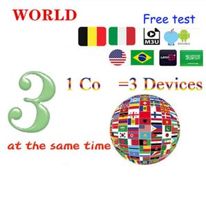1 for 3 screens ,SUB smart tv accessories receivers full Euope m3-u arbic french Spain Nordic UK one-year Tablet PC MAG TEST