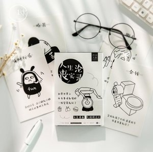Bookmark 30pcs lot Words Series Postcard Greeting Card Letter Paper Memo School Office Supplies