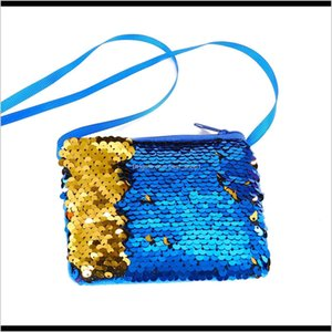 Backpacks Bags Accessories Baby, & Maternity Drop Delivery 2021 Children Fashion Mermaid Sequins Coin Wallet Kids Girl Glittering Purse Handb