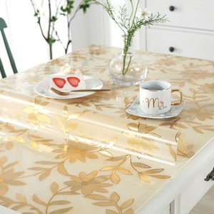 scalding, wash anti PVC oil proof, tablecloth waterproof, free plastic square transparent tea table mat rectan