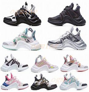 2021 أزياء عارضة أبي الأحذية كتلة archlight جلد طبيعي أحذية رياضية شبكة أسود تنفس القوس منصة الأحذية ستايليس 35-40 G09S #