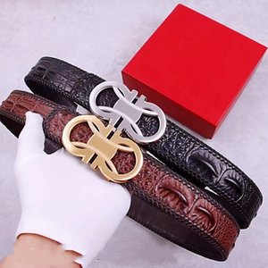 Men Designers Belts Fashion Belt Genuine Leather Strapbelt Good Quality Waistband Gold Silver Buckle Luxury Formal Business Classic Casual