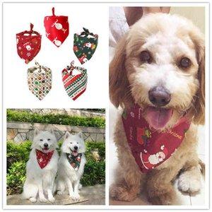 Dog Apparel 7 Designs Christmas Pet Scarf Cat Triangular Binder Bandana Cartoon Xmas Prints Neckerchief Pets Mouth Saliva Towel Bib Dog Apparel{category}