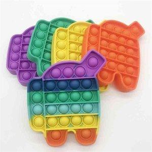 Findget Toys Finger Toys Простой Тикток Poppers POP Push Bubble Autism Специальный стресс Красочные силиконовые декомпрессионные игрушки H480GS0