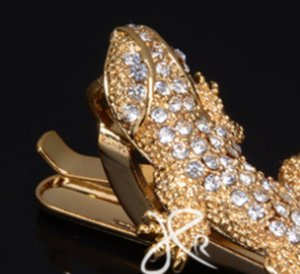 YourSFS Gecko галстуки для мужчин Серебряный цвет ручной работы серебристый закрученный ящерица парень выпускной жених свадьба мужская рептилия Gift622 T2