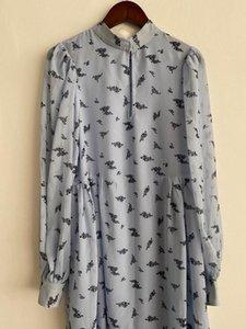 Elfbop Ladies Printed Loose Short Dress With Long Sleeve Casual Dresses