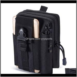 Packs Backpacks Gear Drop Delivery 2021 Outdoor Tactical Hip Waist Belt Wallet Pouch Purse Phone Case Baox2