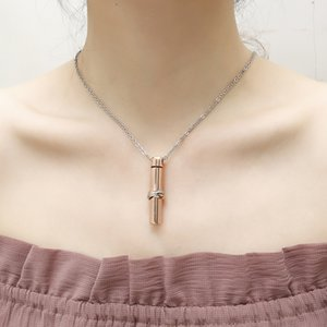 Perfume Necklace stainless steel pendant male and female general metal Mini pet casket can open