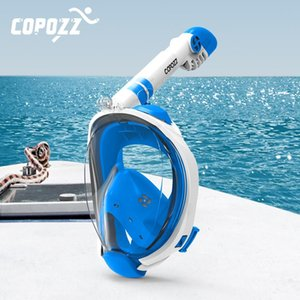 Copozz Diving Mask Full Face Fog Snorkeling Underwater Scuba Diving Mask Swimming Snorkel Equipment For Adult Youth sqcbKE home2006