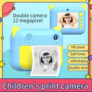 Children Instant Printer 1080P Digital Camera With Po Paper Toys Birthday Gifts For Kids Printers