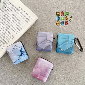Ink marble IMD for apple airpods case airpod 1 2 3 pro earphone charger box protective cover headphone accessories