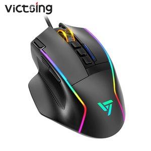 PC322 16000 DPI RGB Gaming Mouse Mouse 10 Программируемые кнопки Настраиваемые Chroma RGB Подсвечники Оптический Датчик Датчик Компьютерные мыши