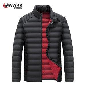 Большой размер 2020 белая утка вниз мужская зимняя куртка сверхлегкая повседневная верхняя одежда снег теплый меховой воротник бренд пальто Parkas