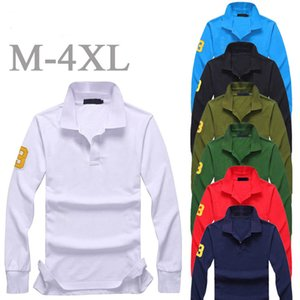 Mens polo t shirts horse designer long sleeve Leaves Men's tshirts with embroidery technology cotton fashion Sweatshirt casual polos t-shirt 891 Wholesale prices