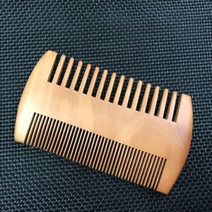 100pcs Fine & Coarse Tooth Dual Sided Wood Comb Wooden Hair Beard Combs Can customize your logo