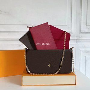 Fashion lady wallet business one-shoulder messenger chain handbag high-quality leather square multi-color optional