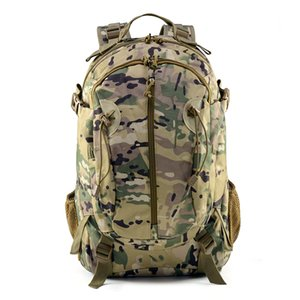 40L Camping Backpack Military Tactical Bag Hiking Climbing Rucksack Waterproof Trekking Camouflage Army Backpak Outdoor Daypack