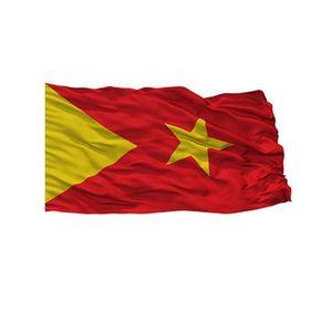 Tigray-Flagge 3x5 Fuß fördernd doppelt genäht hochwertiger Fabrik direkt Polyester mit Messing-Ösen