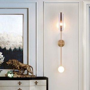 Modern Bathroom Led Wall Lamp Creative Bedroom Light Nordic Minimalist Home Glass Lights Study Living Room Background