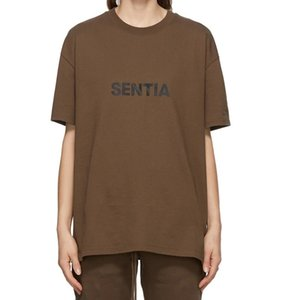 2021 Spring Summer Front Front 3D Silicon Logo T Shirt Tee Skateboard Tshirt Hombres Mujeres Manga corta