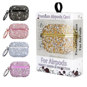 Bling Diamond Rhinestone Earphone Case for Airpods 1 2 3 Pro Wireless Charging Box With Retail Package