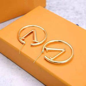 Neue Mode Womens Große Kreis einfache Ohrringe Hoop Ohrringe für Frauen hohe Qualität