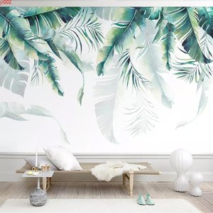 Custom Any Size Wall Mural Papel De Parede 3D Abstract Banana Leaves Photo Wallpaper Living Room Sofa TV Background Home Decor